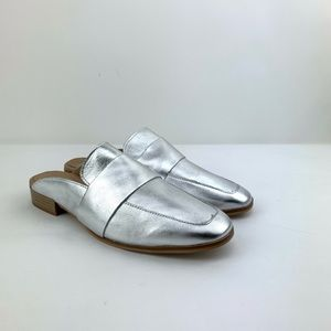 Free People At Ease Silver Mule